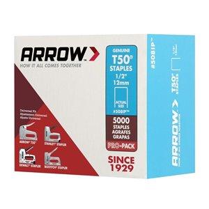 Arrow Fastener T50 1/2-in Heavy-Duty Staples (5,000-Count)