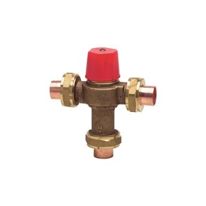 1/2-in Dia. Brass 3-Way Sweat Hot Water Temperature Control Valve