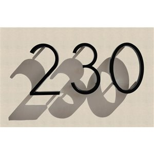 Hillman 5-in Ribbon Elevated-Mount House Number