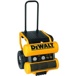 DEWALT 4-Gallon Single Stage Portable Electric Twin Stack Air Compressor