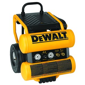 DEWALT 4-Gallon Single Stage Portable Electric Twin Stack Air Compressor