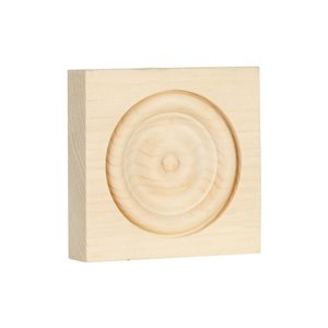 3-in x 3-in N/F Pine Wood N/F Baseboard Moulding Block