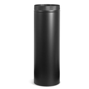 IMPERIAL 6-in x 18-in Black Matte Stove Pipe