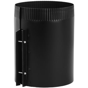 IMPERIAL 6-in x 8-in Black Matte Stove Pipe Fittings
