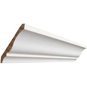 19/32 x 4-1/4 x 8-ft Primed MDF Crown Moulding