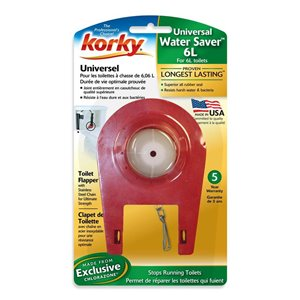 2-in Dia. Korky Plus Universal Fit Rubber Toilet Flapper - For 1.6 Gallon