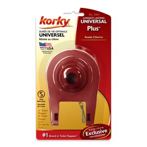 2-in Dia. Korky Plus Universal Rubber Toilet Flapper