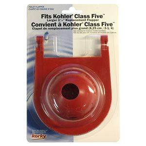 2-in Dia. Korky Rubber Toilet Flapper - For Kohler