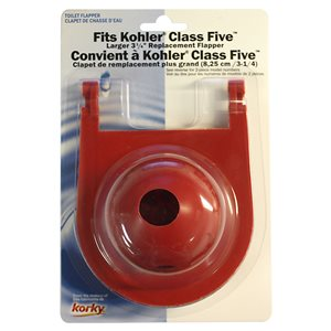2-in Dia. Korky Rubber Toilet Flapper - For Kohler
