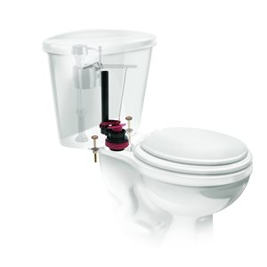 Fluidmaster Complete PerforMax 2-in Toilet Flush Valve and Flapper Repair Kit