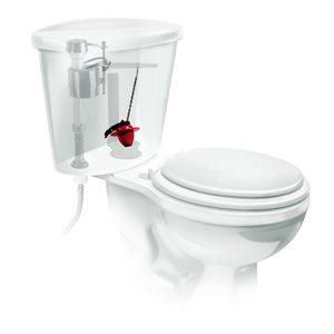 Universal Longer Lasting Chlorine-Resistant Toilet Flapper w/Microband