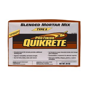QUIKRETE 30kg Pro Finish Type S Blended Mortar Mix