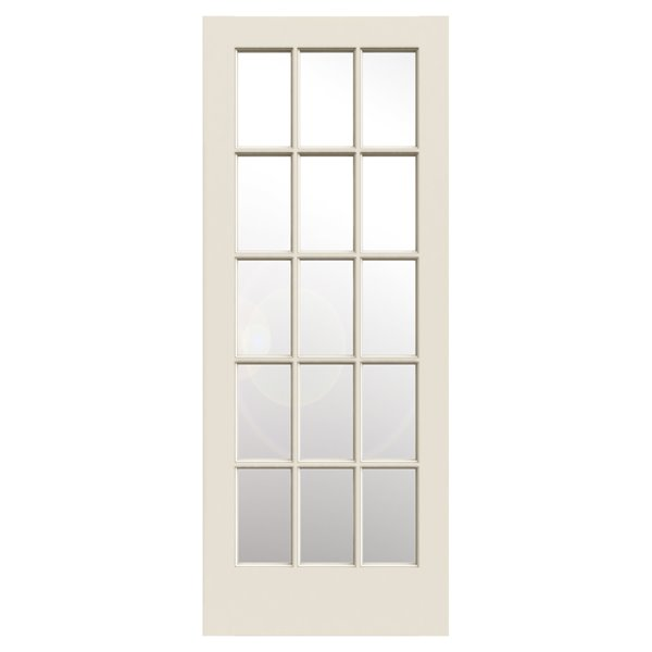 30 In X 80 In Primed 10 Lite French Solid Core Smooth Clear Glass Interior Slab Door