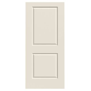 36-in x 80-in Primed 2-Panel Square Smooth Interior Slab Door