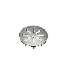 4-in Dia. Chrome Snap-In Metal Face Plate/ Drain Cover
