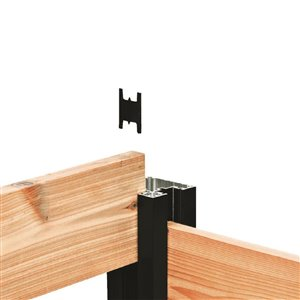 HOFT Solutions HOFT Kit B8- One 96 in. In-Ground Corner Post Kit (Black) and Hardware