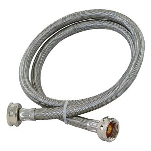 EASTMAN 4-ft L 3/4-in OD Inlet x 3/4-in Outlet Stainless Steel Washing Machine Connector