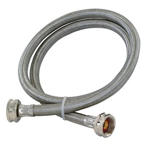 EASTMAN 5-ft L 3/4-in Hose Thread Inlet x 3/4-in Outlet Braided Stainless Steel Washing Machine Connector