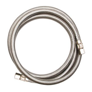 1/4-in Dia x 5-ft 1800-PSI Stainless Steel Threaded Ice Maker Connector