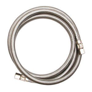 EASTMAN 20-ft L 1/4-in OD Inlet x 1/4-in Outlet Stainless Steel Ice Maker Connector