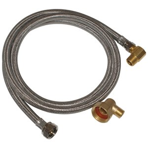 EASTMAN 5-ft L 3/8-in Compression Inlet x 3/8-in Outlet Stainless Steel Dishwasher Connector