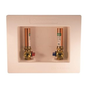 Aqua-Dynamic Washing Machine Box with 1/2 -in PEX Arrester Valves