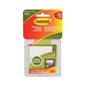 3M 6-Pack Medium Picture Hanging Strips