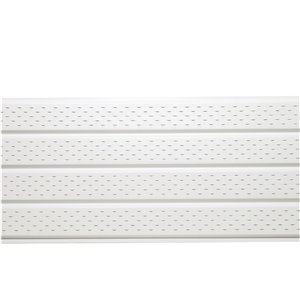 16-in x 147-in Bright White Quad Vented Aluminum Soffit