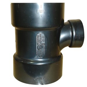 3-in x 3-in x 1-1/2-in Dia. ABS Sanitary Tee Fitting