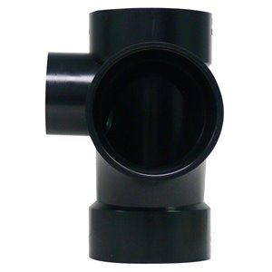 3-in x 3-in x 3-in x 2-in Dia. ABS Sanitary Tee Fitting L/Side