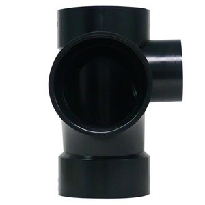 3-in x 3-in x 3-in x 2-in Dia. ABS Sanitary Tee Fitting R/Side