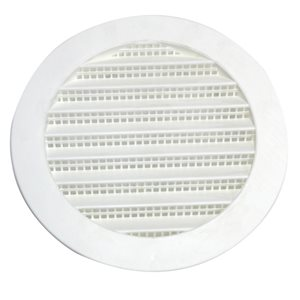 3-in White Plastic Whole House Gable Vent