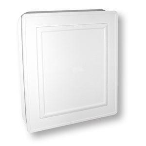 7.5-in x 8.5-in White Vinyl Universal Mounting Block