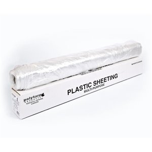 Polytarp Economy Clear Multi-Purpose Plastic Sheeting/Drop Sheet (8.5-ft x 177-ft)