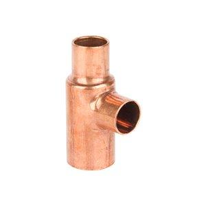 3/4-in x 1/2-in x 1/2-in Dia. Copper Solder Tee Fitting (10-Pack)