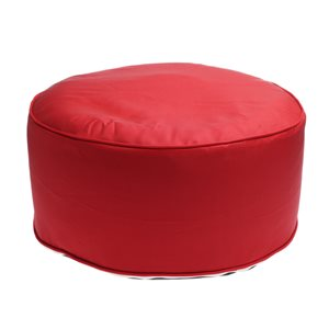 Style Selections Inflatable Pouf Red