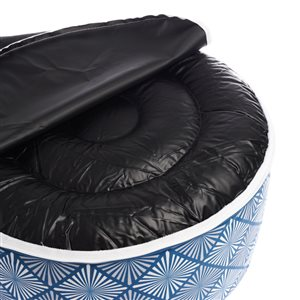 allen + roth AR MS 20X10 Inflatable Pouf Geo