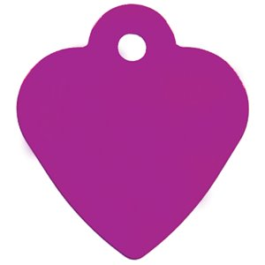 Heart ID Tag- Small Purple- Engrave