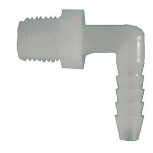 3/8-in x 1/2-in Dia. 90-Degree Plastic/Nylon Barb x MIP Elbow Fitting