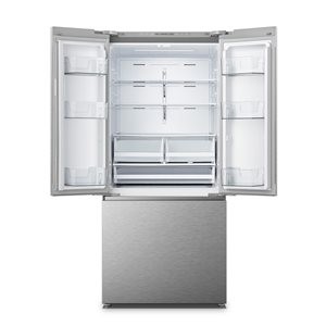 Hisense 13.9-cu ft French Door Refrigerator (Stainless steel) ENERGY STAR