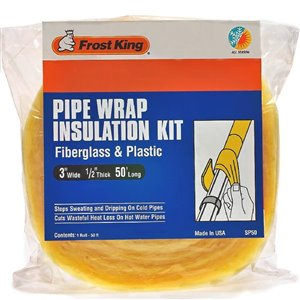 Frost King 1/2-in Fiberglass Plumbing Pipe Insulation