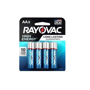 Rayovac AA High Energy Battery (8-Pack)
