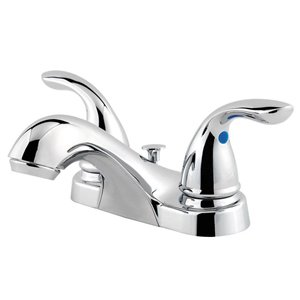 Pfister Polished Chrome 2-Handle 4-in Centerset WaterSense Bathroom Sink Faucet with Drain (Valve Included)