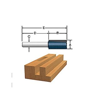 Bosch 3/4-in x 1 1/4-in Carbide-Tipped 2-Flute Straight Bit