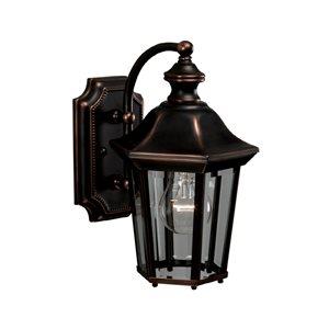 allen + roth Oakton 11-in Copper Outdoor Wall Mounted Light