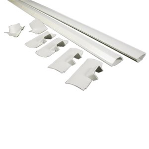 Wiremold 1.5-in x 96-in Surface Raceway Type White Cord Cover