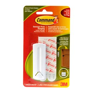 3M Command Large Adhesive Wire-Backed Picture Hook