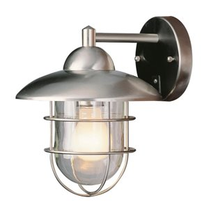 Portfolio 10.25-in Steel-Stainless Outdoor Wall Mounted Light