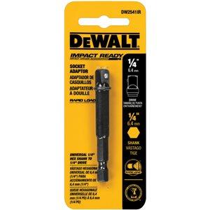 DEWALT 1/4-in to-1/4-in Hex Shank Socket Adapter