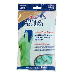 Quickie - Clean Results Clean Results Medium Nitrile Cleaning Gloves